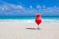 Drink on beach Stock Photo