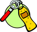 Drink bottle and opener vector illustration Stock Photography