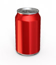 Drink can d render red and clipping path Stock Photo