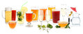 Drink collection Royalty Free Stock Photo