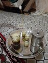 Drink the desert tea in one of the winter nights of the house Royalty Free Stock Photo