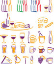Drink & Food icons Stock Photos
