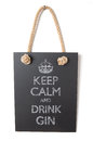 Drink gin keep calm and Royalty Free Stock Photography