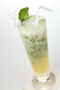 Drink a glass of mint Royalty Free Stock Photo