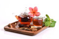 Drink herbal colon cleansing and fat accumulation thailand various kinds of herbs bring to boil together for drinks Stock Photos