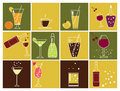Drink icons Royalty Free Stock Photography