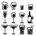 Drink icons this is file of eps format Royalty Free Stock Photo