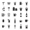 Drink icons on white background Stock Photography