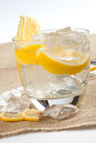 Drink with lemon and ice Royalty Free Stock Photo