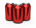 Drink red cans d render and clipping path Stock Images