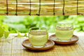 Drink of summer in japan shot japanese tea house a cold green tea Stock Photo