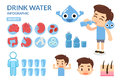 Drink Water. Body and Water. Benefit of Water.