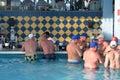 Drinkers at swim up bar riu bachata resort dominican republic february Stock Photography