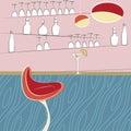 Drinking bar design Royalty Free Stock Photo