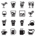 Drinking , glass, jug, cup icons set Royalty Free Stock Photo