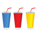 Drinking glasses art color vector illustration Royalty Free Stock Photo