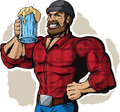 Drinking lumberjack cartoon drawing of a lumberjac Royalty Free Stock Photos