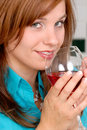 Drinking Red Wine Royalty Free Stock Photos
