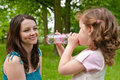 Drinking regime from childhood Royalty Free Stock Photography