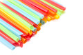 Drinking straw set of colorful plastic tubes Royalty Free Stock Photo