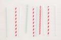 Drinking straws background Royalty Free Stock Photo