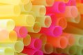 Drinking straws close up of drink in different colors Royalty Free Stock Images