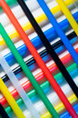 Drinking straws colorful arranged on the diagonal Royalty Free Stock Photo