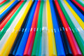 Drinking straws colorful in shallow depth of field Royalty Free Stock Image