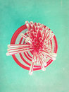 Drinking straws in retro color Royalty Free Stock Photo