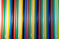 Drinking straws stacked one next to another Royalty Free Stock Images