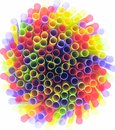 Drinking straws on white background Royalty Free Stock Photography