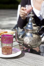 Drinking tea in Marocco Stock Photography