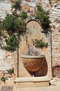 Drinking water fountain in the streets of roussillon the ochre city provence Royalty Free Stock Photography