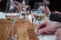 Drinking wine Royalty Free Stock Photo