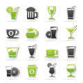 Drinks and beverages icons vector icon set Stock Image