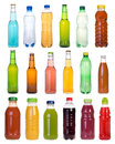 Drinks in bottles isolated on white background Royalty Free Stock Photography