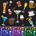 Drinks and coctail background Royalty Free Stock Image