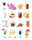 Drinks icons vector set of isolated on a white background Stock Image