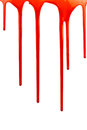 Dripping blood on white background Stock Image