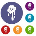 Dripping slime icons set