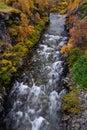 Driva canyon in autumn, dovrefjell, norway Royalty Free Stock Photo