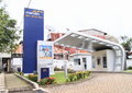 Drive in atm modern banking of the bank mandiri manado north sulawesi indonesia Stock Image
