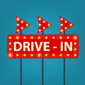 Drive in marquee sign Royalty Free Stock Photo