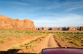 Drive in monument valley on the roads of utah the united states of america Stock Photography