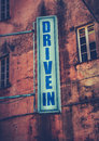 Drive-In Movie Theatre Sign Royalty Free Stock Photo