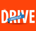 Drive safe and carefully icon/ safe driving concept Royalty Free Stock Photo