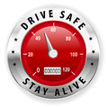 Drive safe and stay alive icon or symbol - safe driving concept vector Royalty Free Stock Photo