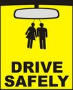 Drive safely vector Royalty Free Stock Photo