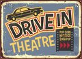 Drive In Theater Vintage Sign ...