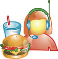 Drive thru food operator Icon Royalty Free Stock Photo